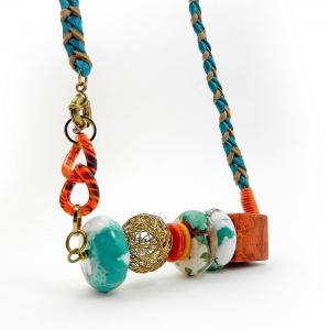 Bright colorful statement necklace ..